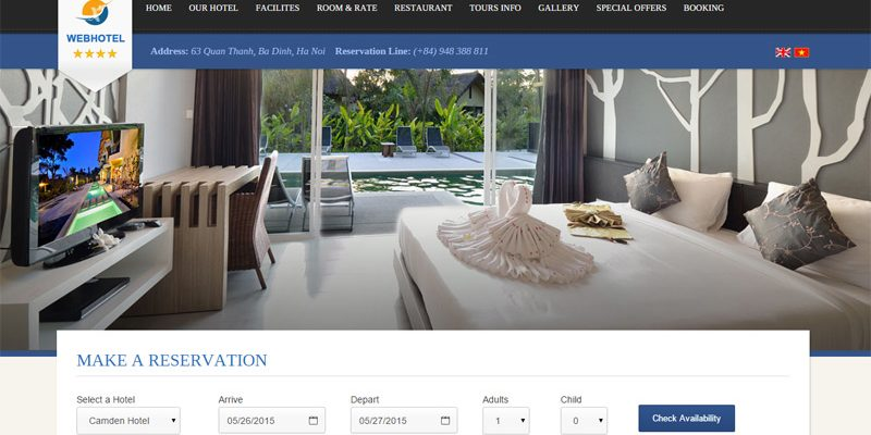 Thiết kế website đặt phòng khách sạn tốt nhất cần những gì ?