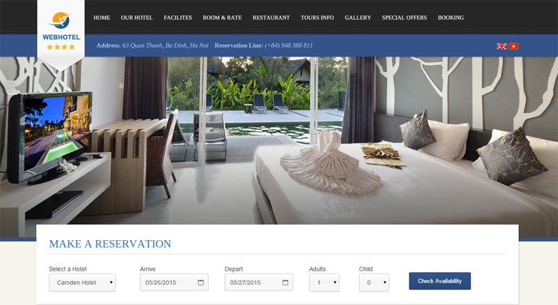 Thiết kế website khách sạn tốt nhất