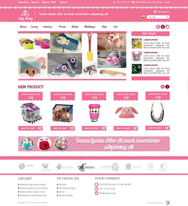 Thiết kế website bán hàng đồ chơi trẻ em