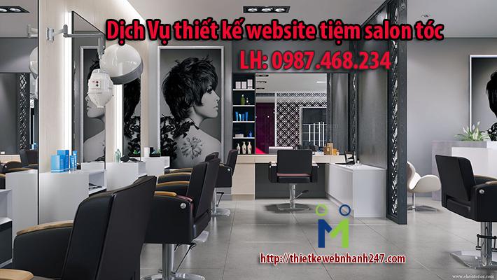 Thiết kế website tiệm salon tóc giá rẻ