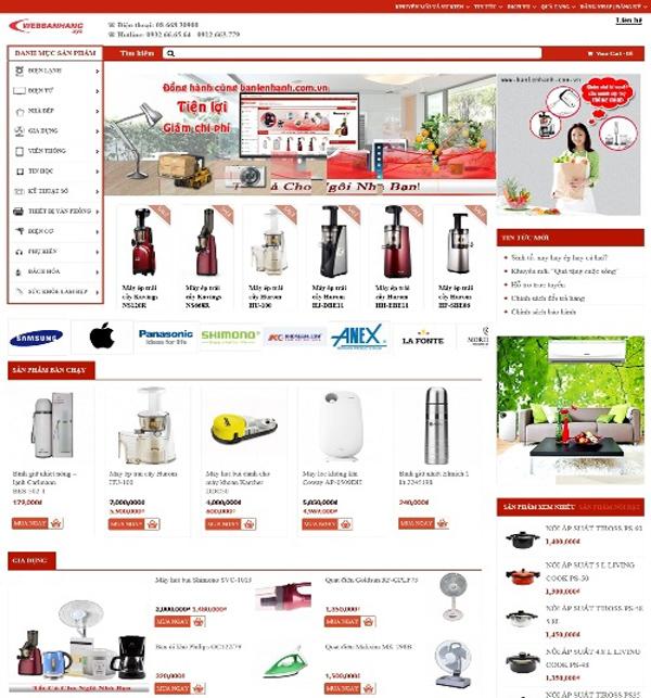 Thiết kế web bán đồ gia dụng chuyên nghiệp