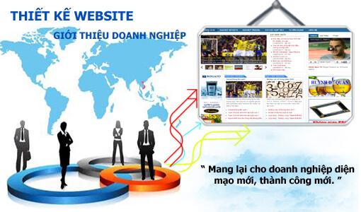Thiết kế web giới thiệu doanh nghiệp công ty