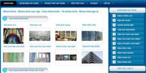 Thiết kế web nhôm kính giá rẻ uy tín chuyên nghiệp