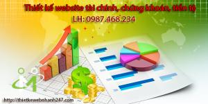 Thiết kế website tài chính, chứng khoán, tiền tệ chuyên nghiệp chuẩn SEO