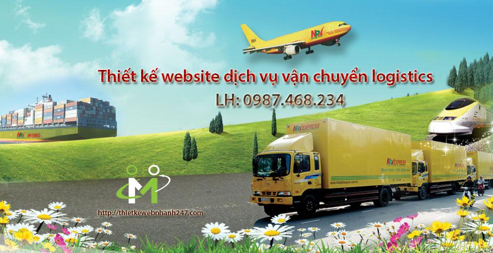 Thiết kế website dịch vụ vẩn chuyển logistics