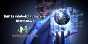 Thiết kế web dịch vụ giao nhận chuyên nghiệp, chuẩn SEO