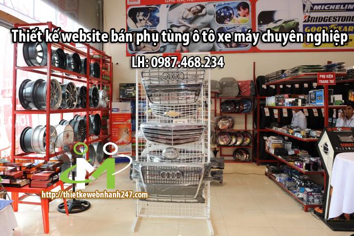 Thiết kế website bán phụ tùng ô tô xe máy chuyên nghiệp