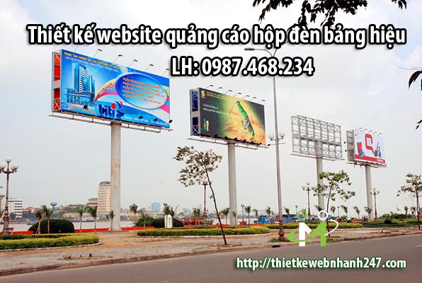 Thiết kế website quảng cáo hộp đèn bảng hiệu