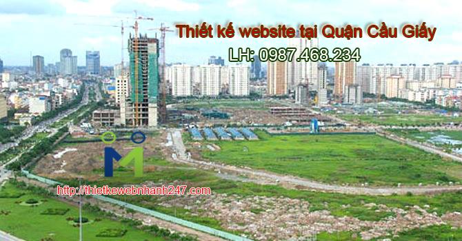 Thiết kế web tại quận Cầu Giấy Hà Nội