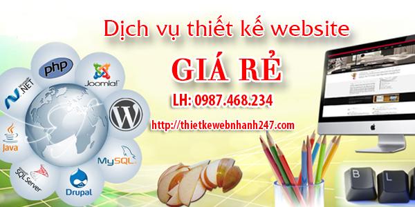 Thiết kế website đẹp giá rẻ