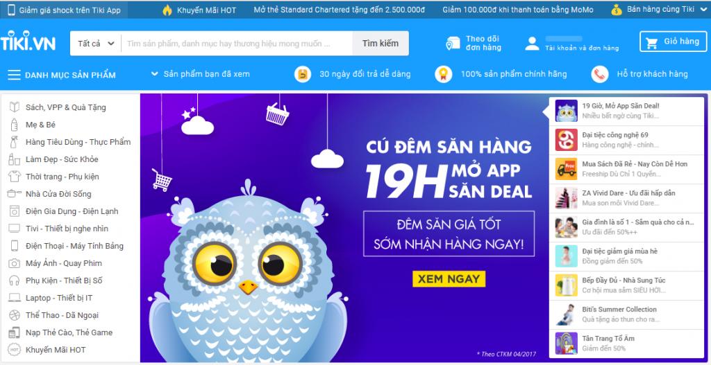 Website bán hàng tiki.vn