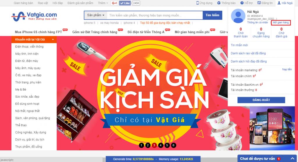 Website bán hàng vật giá