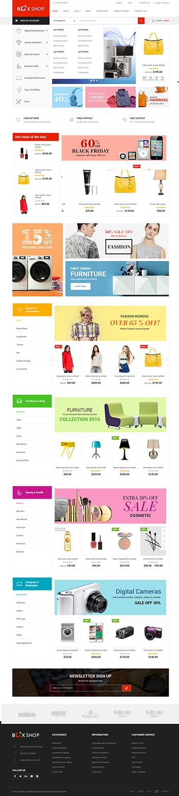 Thiết kế web bán hàng chuyên nghiệp Box Shop