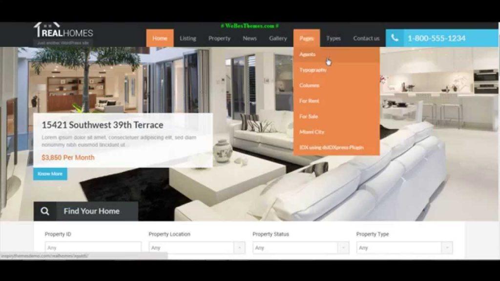 Mẫu web bất động sản Real Homes