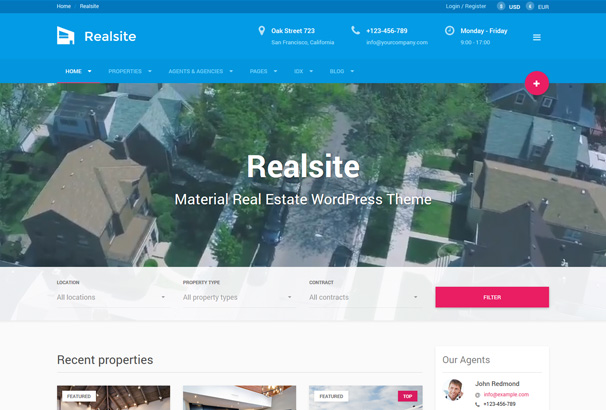 Mẫu web bất động sản Realsite