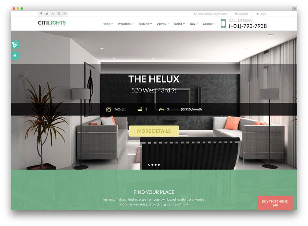 Mẫu website bất động sản CitiLights