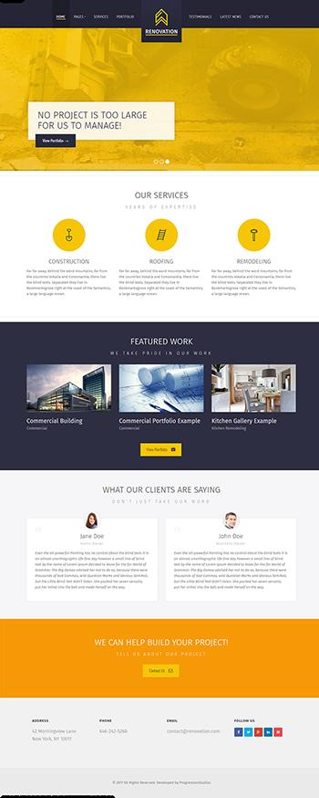 Thiết kế website công ty nội thất xây dựng