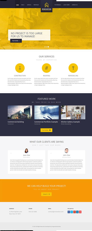 Mẫu website giới thiệu công ty nội thất xây dựng