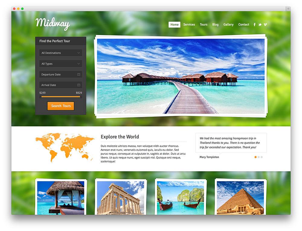 Top 6 mẫu website du lịch