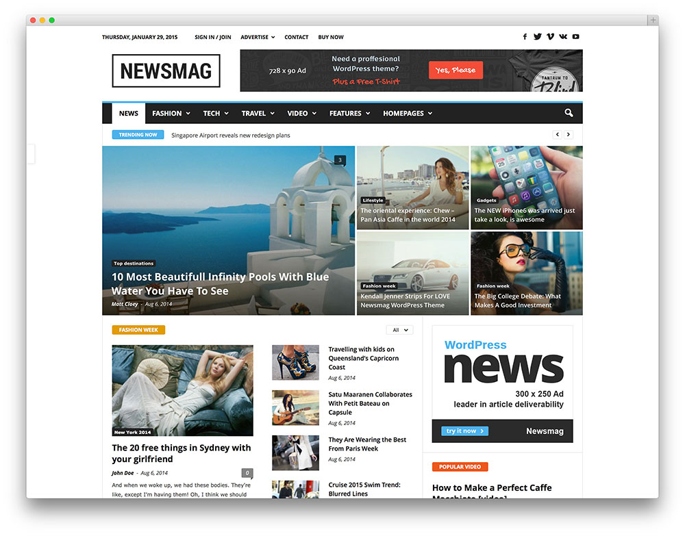 Theme wordpress Newsmag
