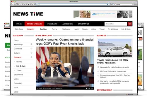 Newstime wordpress theme