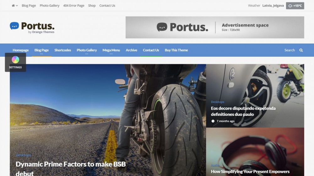 Portus theme wordpress