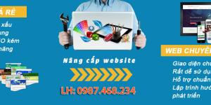 Dịch vụ nâng cấp, sửa chữa, bảo trì website chuyên nghiệp