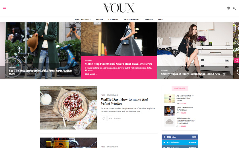 The Voux theme wordpress
