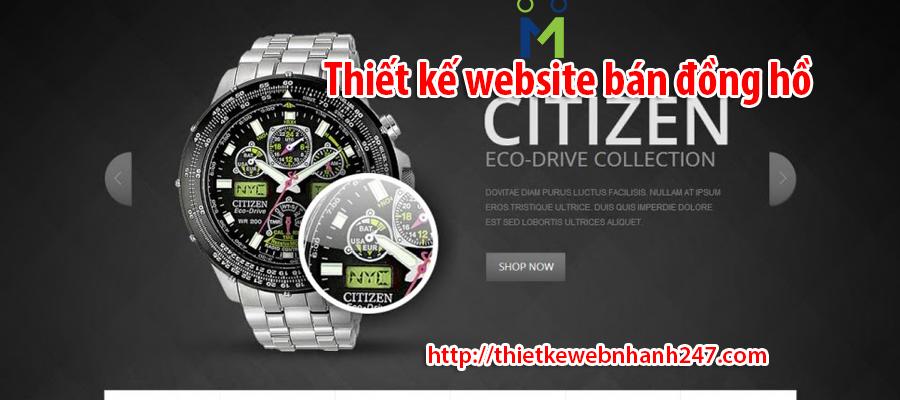 Thiết kế website bán đồng hồ chuyên nghiệp chuẩn SEO