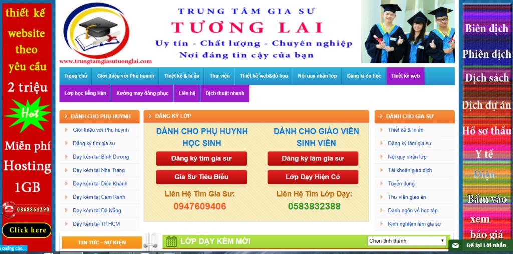 Thiết kế website gia sư chuyên nghiệp chuẩn SEO