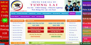 Thiết kế website gia sư chuyên nghiệp chuẩn SEO dễ dàng lên top google