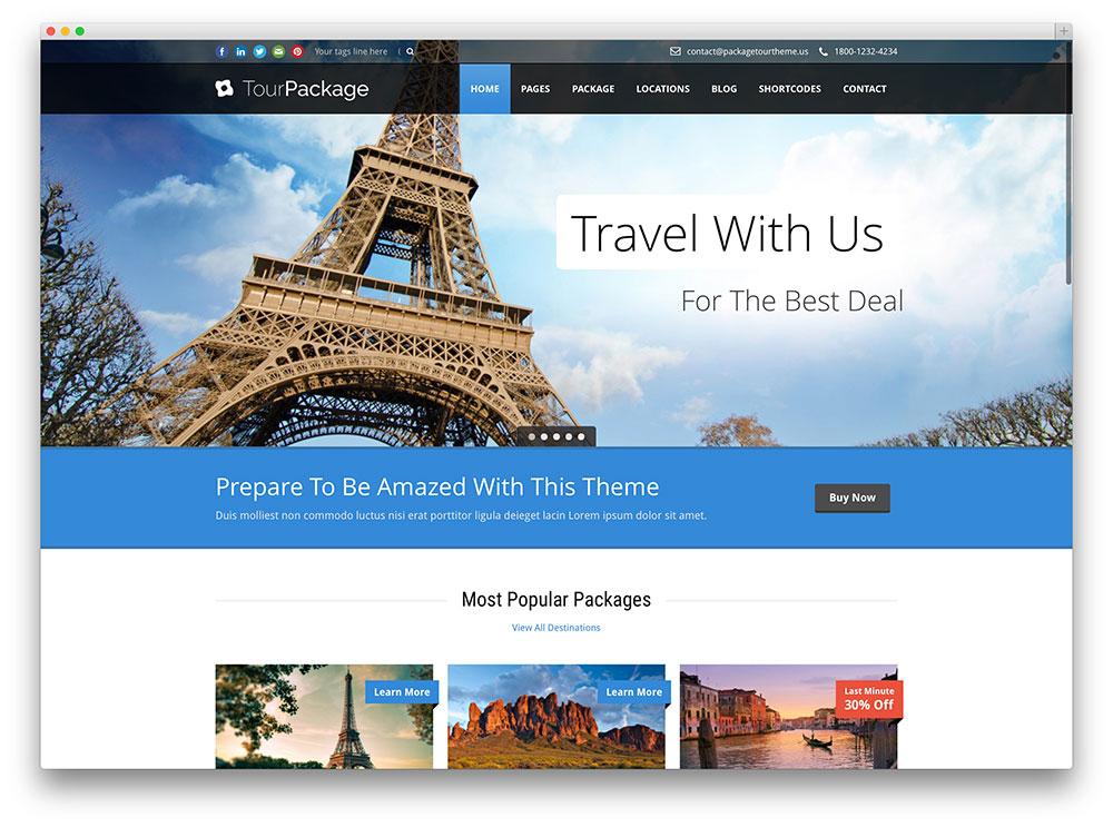 website du lịch chuyên nghiệp