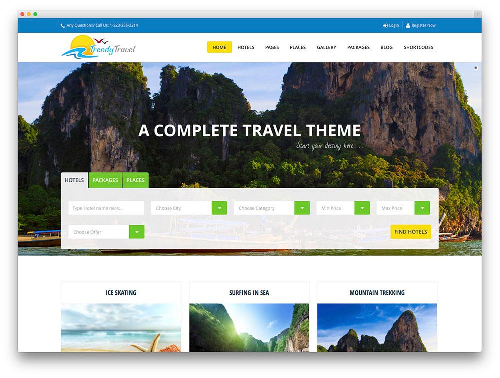 mẫu website du lịch đẹp chuyên nghiệp