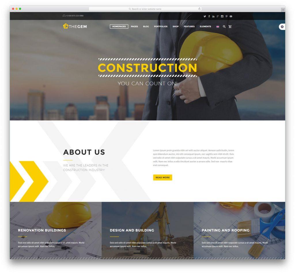 Top 6 mẫu website công ty xây dựng đẹp chuyên nghiệp 2017