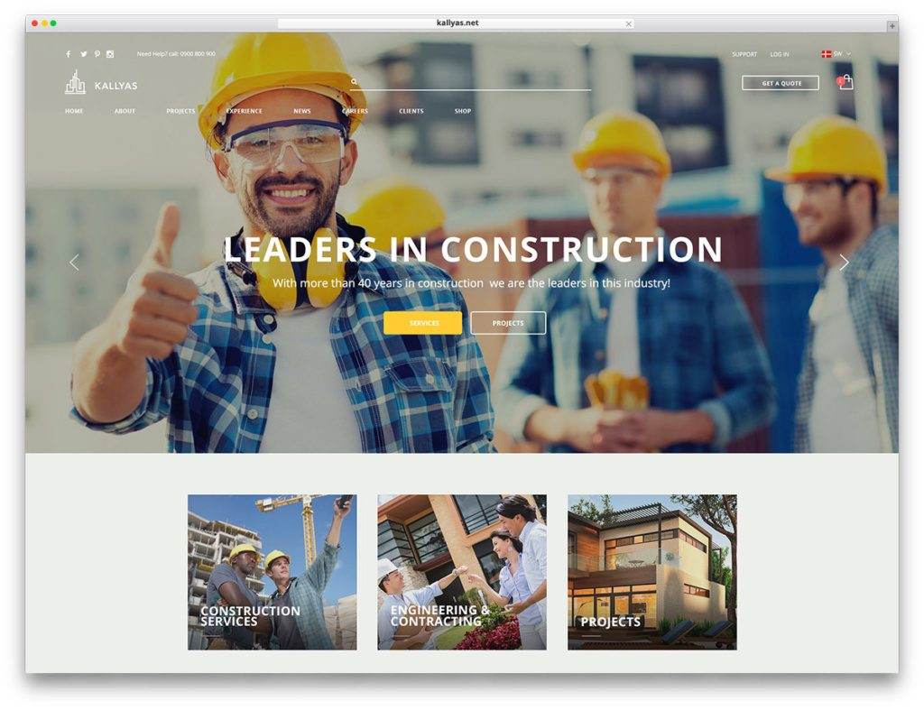 mẫu website công ty xây dựng đẹp