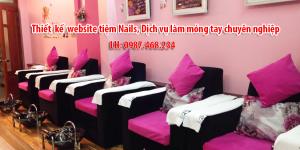 Thiết kế website tiệm nails, dịch vụ làm móng tay