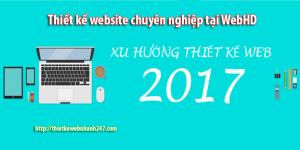 Xu hướng thiết kế website tốt nhất năm 2017