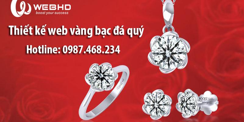 Thiết kế web vàng bạc đá quý chuyên nghiệp