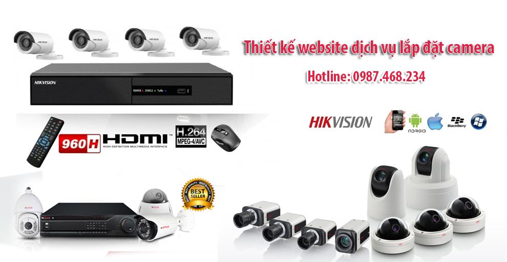 Thiết kế web dịch vụ camera chuyên nghiệp
