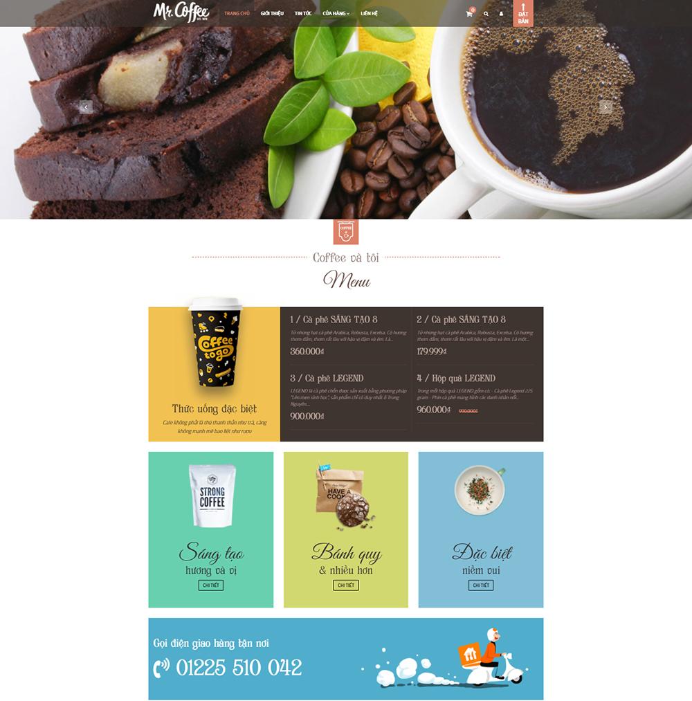 Mẫu giao diện mẫu Coffee and You