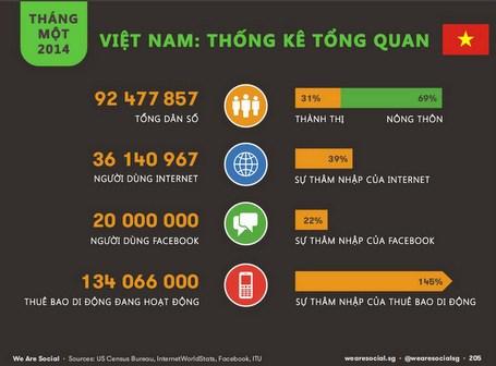Infographics Tốc độ phát triển tại Việt Nam