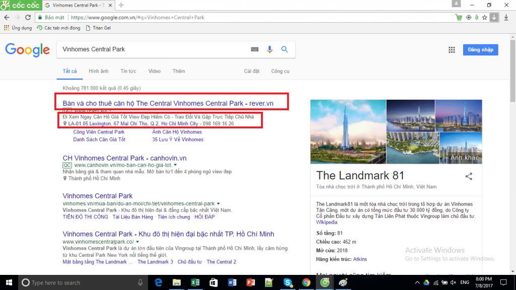 Copy tiêu đề quảng cáo google adwords
