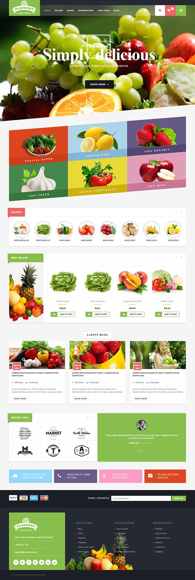 Mẫu web bán hàng shop trái cây đẹp chuyên nghiệp