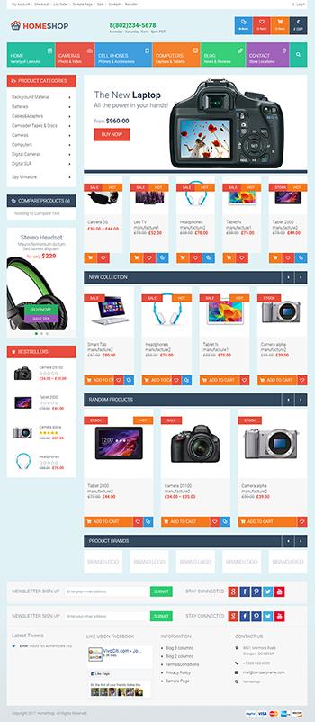 Mẫu web bán hàng homeShop
