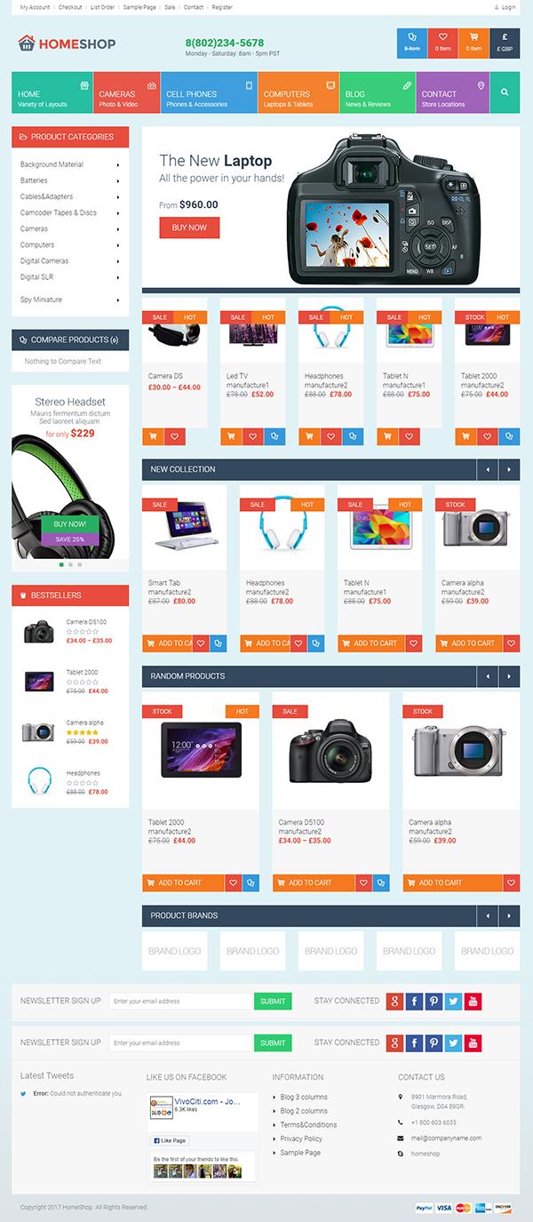 Mẫu web bán hàng home Shop chuyên nghiệp giá rẻ