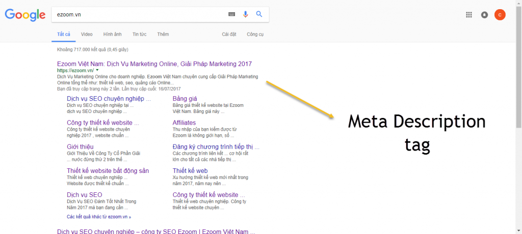 Thẻ meta description