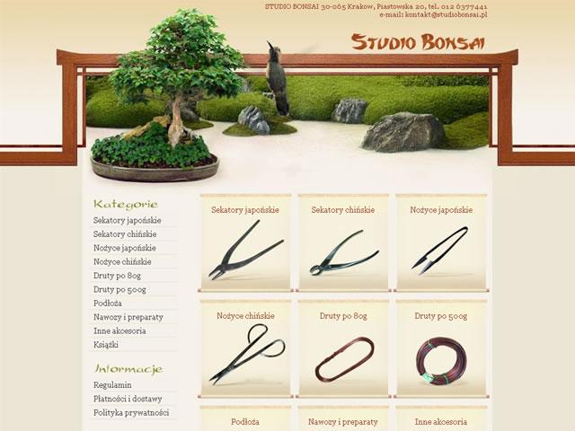 thiết kế web cây cảnh bonsai