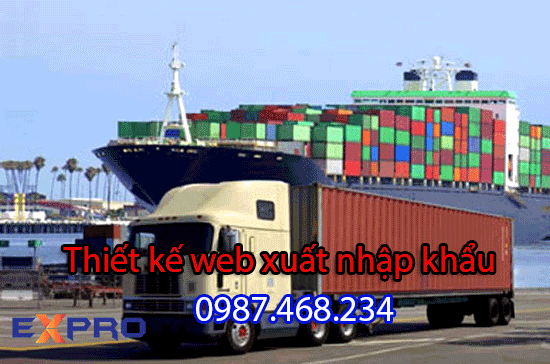 Thiết kế website công ty xuất nhập khẩu – Expro Việt Nam