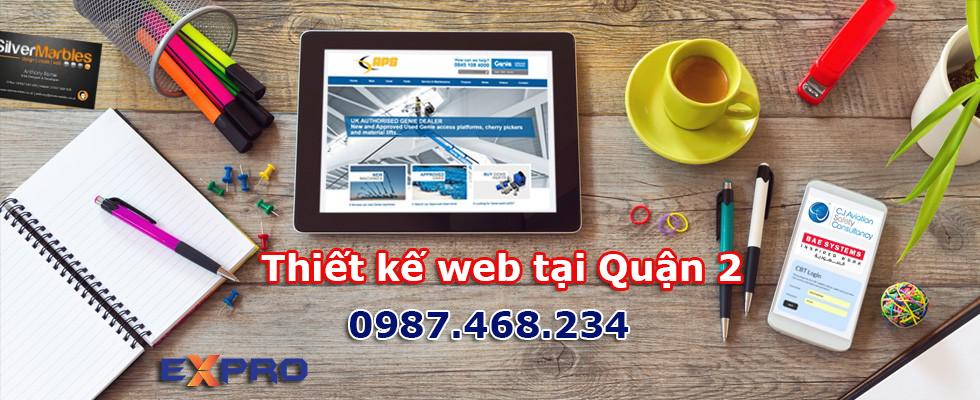 Thiết kế web tại Quận 2 – TP. Hồ Chí Minh