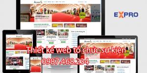 Thiết kế website tổ chức sự kiện chuyên nghiệp – Expro Viêt Nam